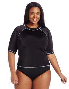 Kanu Surf Women's Plus-Size Breeze Rash Guard - List price: $33.00 Price: $24.99 Saving: $8.01 (24%)