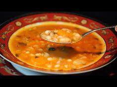 φασολάδα παραδοσιακή κλασική συνταγή της γιαγιάς/traditional bean soup cuzinagias - YouTube Greek Dishes, Cheeseburger Chowder, Soups, Ethnic Recipes, Youtube, Food, Recipes, Essen, Soup