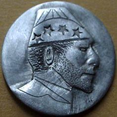 "BILL ""BILLZACH"" JAMESON HOBO NICKEL - NO DATE BUFFALO PROFILE Hobo Nickel, Art Forms, Sculpture Art, Buffalo, Coins, Miniatures, Carving, Profile, User Profile"