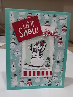 Company Christmas Cards, Stamped Christmas Cards, Christmas Card Crafts, Homemade Christmas Cards, Christmas Drawing, Homemade Cards, Xmas Cards To Make, Snowman Cards, Stampin Up