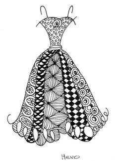 cute dress doodle