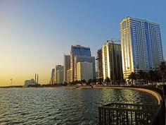 Beautiful evening in Sharjah