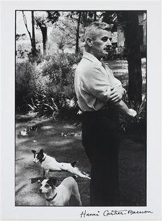 Henri Cartier-Bresson, William Faulkner, writer, Oxford, Mississippi, 1947  William Faulkner is on our family tree.