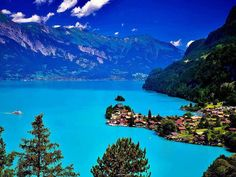 VERIFIED. NOT NZ.  LAKE BRIENZ, SWITZERLAND.  This is NOT New Zealand. . . . .  .via Julie Seidel, on her board New Zealand. . . . . At a glance it may look a bit like Queenstown, but It isn't. . .