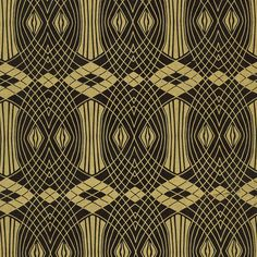Gatsby Print Lokta Paper - Gold on Black