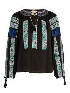 Folk-embroidered cotton blouse | Sea | MATCHESFASHION.COM