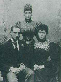 1896 Princess of Wales Alexandra and her daughter Princess (later Queen) Maud, Maud's engagement photo