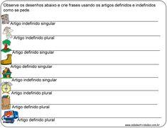 Atividades de artigos definidos e indefinidos para imprimirSala de Atividades
