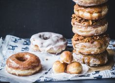 How to make doughnuts (with video): Coffee Biscoff Bacon Doughnuts
