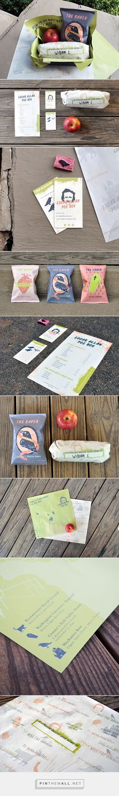 Edgar Allan Poe Boy, Sandwich Shop packaging branding on Behance by Parker Jones. I'm planning on reading at lunch how about you : ) PD