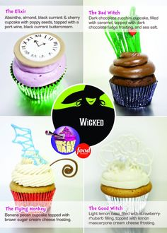 the Cupcake Wars winners, The Cake Mamas , Wicked Cupcakes from the one for the play Wicked!!! ( FYI: a great play)