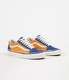 66596cd42a Vans Old Skool 36 DX Anaheim Factory Shoes - OG Blue   OG Gold