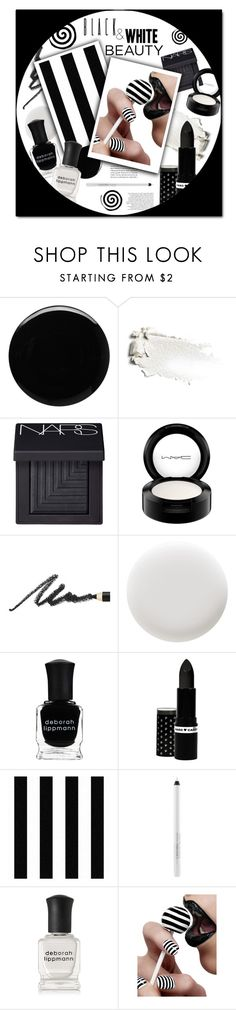 """#518 - Beauty in Black & White"" by lilmissmegan ❤ liked on Polyvore featuring beauty, Deborah Lippmann, NARS Cosmetics, MAC Cosmetics, Benefit, Hard Candy and Nail Rock"