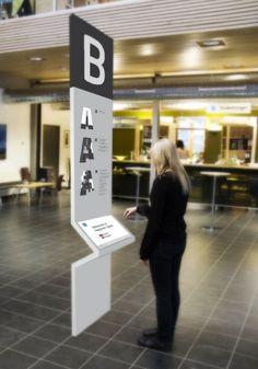 Wayfinding Kiosk #signage #graphics #directionals
