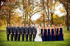 bridal party pictures | ... Missouri wedding photographer bride and groom with wedding party