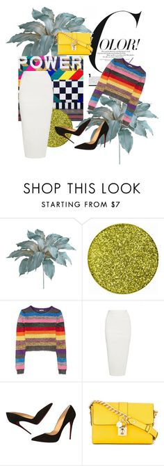 """""""Color!"""" by ritaaalourenco ❤ liked on Polyvore featuring Pier 1 Imports, Miu Miu, Rick Owens, Christian Louboutin and Dolce&Gabbana"""