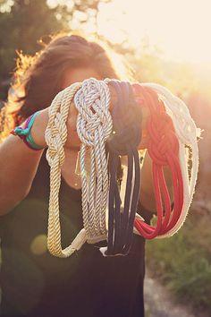I Think Naut, Nautical Knot Headband Your Choice of Color
