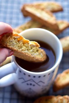 Filled with the warm flavors of cardamom spice and orange zest, these biscotti go perfectly with a hot cup of coffee or black tea. Biscotti Cookies, Biscotti Recipe, Tea Cakes, Orange Recipes, Sweet Recipes, Shortbread, Macarons, Cookie Recipes, Dessert Recipes