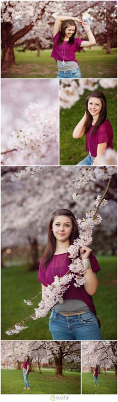 Chilliwack Senior Photographer │ In Bloom Senior Portrait Poses, Senior Posing, Graduation Photos, Senior Photography, Cherry Blossom, Flower Girl Dresses, Bloom, Wedding Dresses, Fig