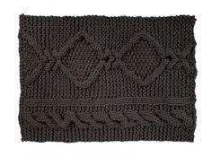 Black Aran Rug by Christien Meindertsma