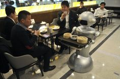 Restaurants in China are replacing waiters with robots
