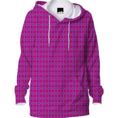 Wine Pink Pattern Hoodie from Print All Over Me
