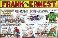 Frank & Ernest on GoComics.com #humor #comics #Sunday #Funnies #SuperHeroes