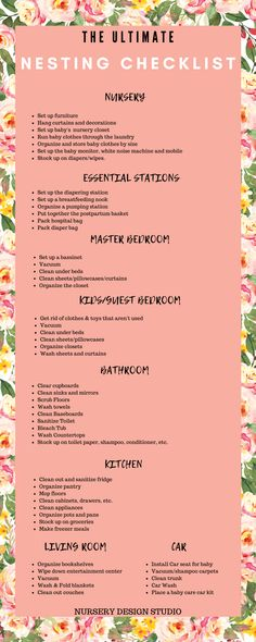 Are you a nesting mom? Today we are sharing our Ultimate Nesting Checklist for nesting moms. Use this nesting checklist to tidy up your home. Pregnancy Checklist, Baby Checklist, Pregnancy Tips, Getting Ready For Baby, Preparing For Baby, Baby Essential List, Baby Nursery Closet, Newborn Baby Tips, Before Baby