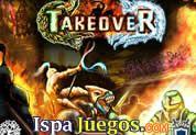 Takeover: Juego de batallas, tarda en cargar pero te divertirás enviando tu ejercito a conquistar castillos y agrandar tu territorio, con estrategia manda a tus tropas y elimina a todos los enemigos