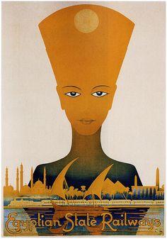 Egyptian State Railway Fridge Magnet x Vintage Travel Poster Magnetic Canvas Print Poster Art, Retro Poster, Kunst Poster, Poster Prints, Pub Vintage, Vintage Art, Canvas Art, Canvas Prints, Art Prints