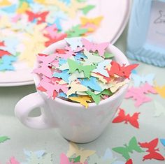 Free Shipping Little Butterfly Shaped Paper Confetti Wedding Decoration/Home Decoration (Random Color) £4.30