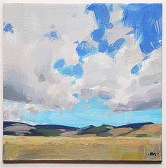 Carol Marine Gallery of Original Fine Art Fine Art Auctions, Small Paintings, Gouache Painting, Fine Art Gallery, Clouds, Sky, Montana, Illustration, Artwork