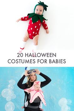 We've round up the very cutest Halloween costumes for babies. Most you can DIY for a sweet + spooky Halloween night Creative Baby Costumes, Best Baby Costumes, Baby Halloween Costumes For Boys, Baby First Halloween, Boy Costumes, Halloween Night, Spooky Halloween, Halloween Games, Costume Ideas