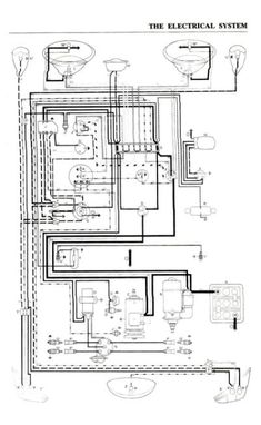 Basic circuit wiring diagram vw buggy