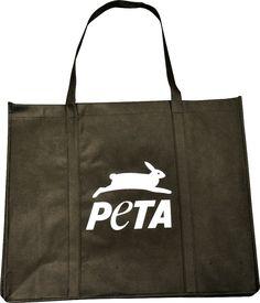 PETA Bunny Eco Tote, $6.00 #bag #reusable