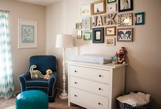 love the little gallery wall over the dresser
