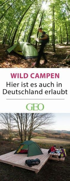 Camping in Germany: wild camping is Camping in Deutschland: Da ist Wildcampen erlaubt Wild camping in Germany: Away from the campsites, official overnight accommodations invite you to enjoy nature. We present all trekking sites in Germany in the article - Bushcraft Camping, Camping And Hiking, Outdoor Camping, Outdoor Travel, Camping Site, Camping Gear, Camping Outdoors, Camping Survival, Camping Equipment