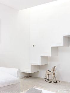 white minimal living room