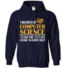 MAJORED IN COMPUTER SCIENCE TSHIRT HOODIE