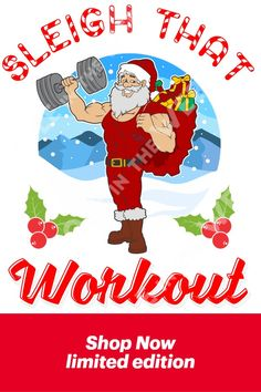 Santa Sleigh that Workout Tees: Clothing, Shoes & Jewelry