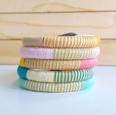$7.50 - Want some color for your outfit? These thread wrap bracelets in pastel hues might be the perfect pick! Stack em up with your other arm candies and finish that stylish outfit.