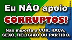 Resultado de imagem para campanha corrupção não
