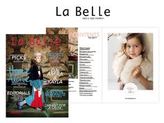 Amelie et Sophie in La Belle Kidz Fashion Magazine - Fall 2017 issue