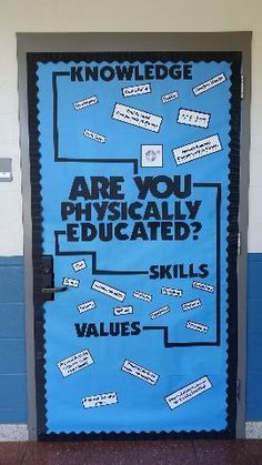 Are you Physically Educated? Door Board Image Are you Physically Educated? Physical Education Activities, Elementary Physical Education, Pe Activities, Health And Physical Education, Elementary Education, Health Class, Education Logo, Pe Bulletin Boards, Health Bulletin Boards