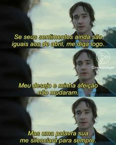 Orgulho e Preconceito Tv Quotes, Movie Quotes, Jane Austen, Pride And Prejudice Quotes, Darcy And Elizabeth, Matthew Macfadyen, Feelings Words, Period Movies, Ms Gs