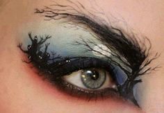 Halloween makeup- Perfect for the party hostess who doesn't want a lot of makeup on her face!
