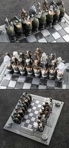 Custom Alien vs. Predator Chess Set Might Be Coolest Yet - TechEBlog