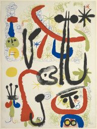 Joan Miró Spanish, 1893-1983  Personnages and Animals, 1950