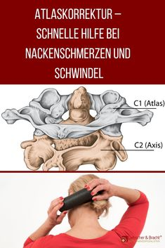 Do you have a headache, neck pain, dizziness, tinnitus or back pain? Then maybe your atlas vertebra is out of balance. If the first cervical vertebra shifts, it can have an effect on your entire body. Fitness Workouts, Yoga Fitness, Fitness Motivation, Health Fitness, Massage Tips, Massage Therapy, Trigger Point Therapy, Salud Natural, Body Treatments