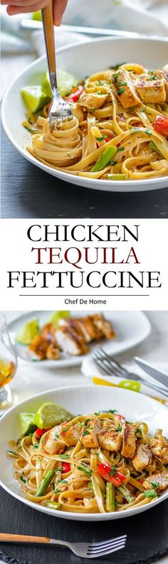 Italian Pasta dinner at home with restaurant style Chicken Tequila Fettuccine for dinner | chefdehome.com